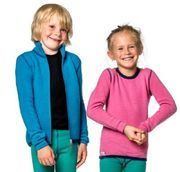Woolpower KIDS Full Zip Jacket 400 Dolphin Blue