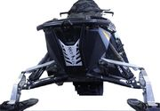 Skinz Next Level Etu Puskuri Musta/Valk 2011-15 Polaris Pro RMK/Rush/Switchback/