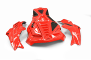 Skinz Helium Access Hood Kit Red Ski Doo 850