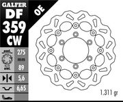 Galfer Wave Brake disc rear, Suzuki VZR1800 Intruder, 08-